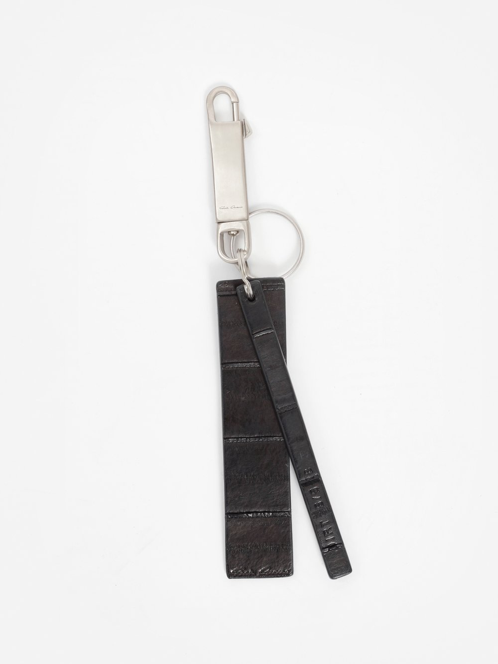 Leather Key Ring in Black from Antonioli