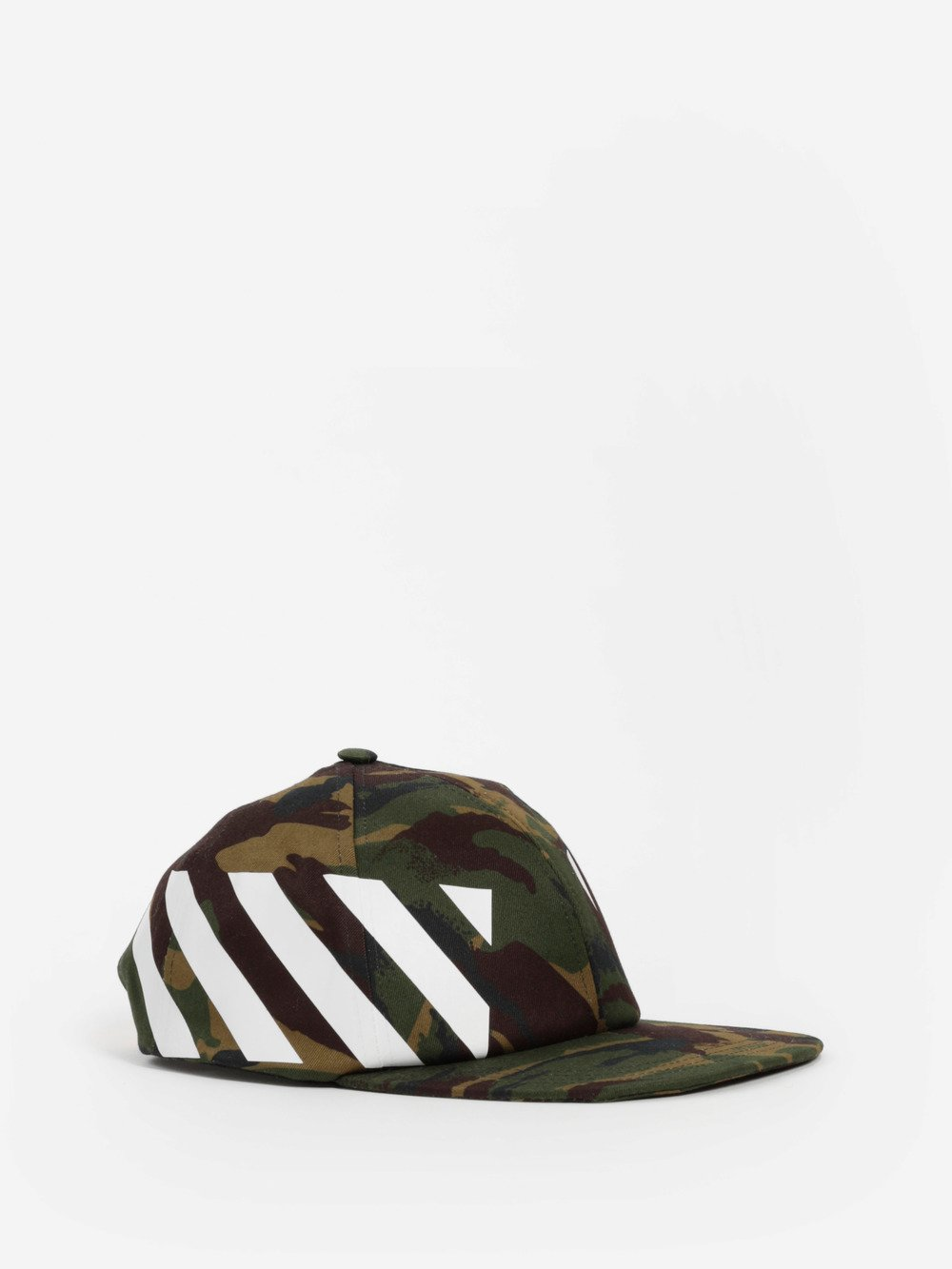 OFF WHITE C/O VIRGIL ABLOH GREEN CAMOUFLAGE DIAG CAP