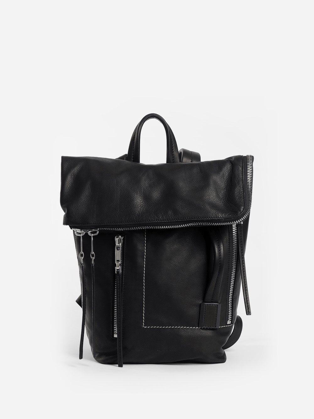 RICK OWENS BLACK SMALL DUFFLE BACKPACK