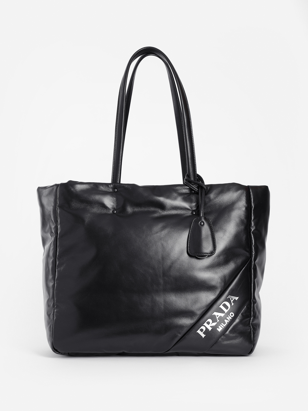 Prada Totes PRADA WOMEN'S BLACK PADDED TOTE BAG