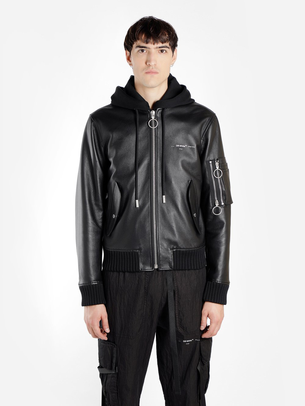 e67a8279b Off-White c/o Virgil Abloh Leather Jackets OMJA021R190300211000