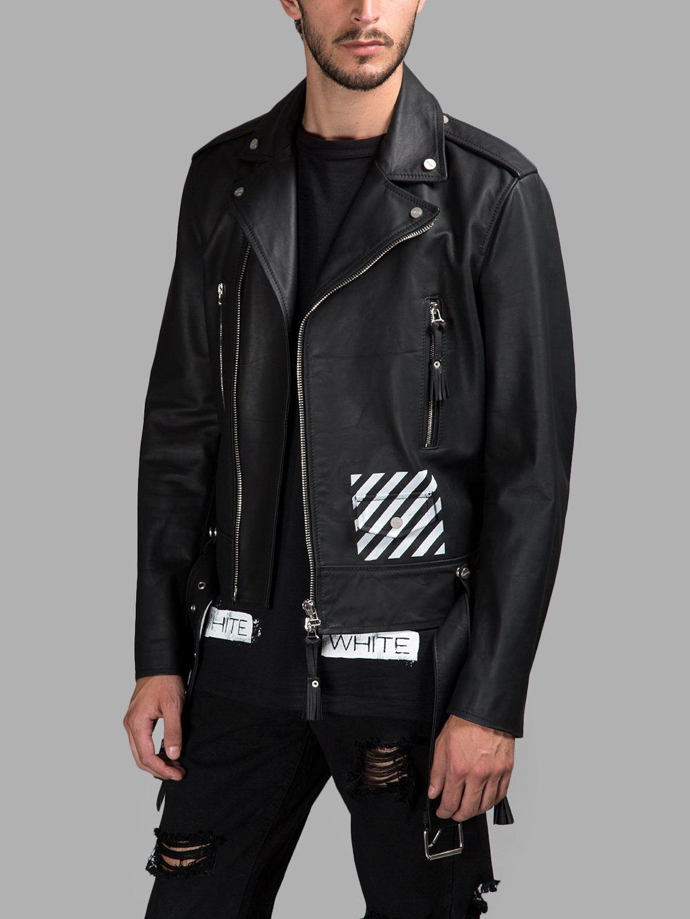 8b2eec5af Off-White c/o Virgil Abloh Leather Jackets CM500101 05